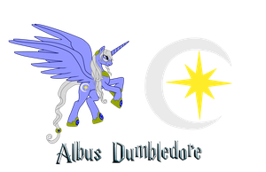 Albus Dumbledore the Alicorn by DracosDerpyHoof