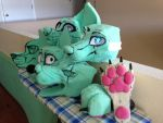 lots and lots of FOAM...and some silicone by AlieTheKitsune