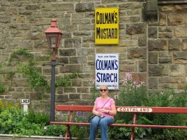 goathland station old signs and  lamp post by Sceptre63