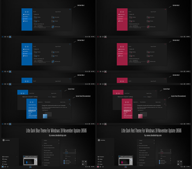 Litle Dark Blue and Red Theme Windows 10 by Cleodesktop