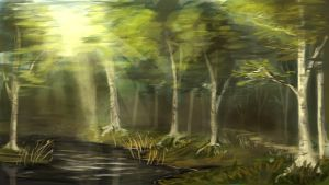 Speedpaint forest by FresiaX