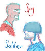 Spy and Soldier by Number-14