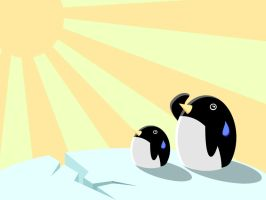 Penguins Meet Global Warming by brenlez