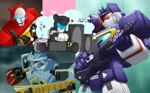 Music Lovers - Yuusha And Transformers Mechs by FanGirlRobotsAndMLP