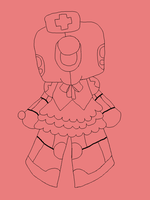 Robot Chibi - Line Art by Boo-tastic