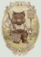 wilbur the wandering wombat by teaganwhite