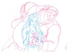 A Flower for a Flower-sketch by DisneyFan-01