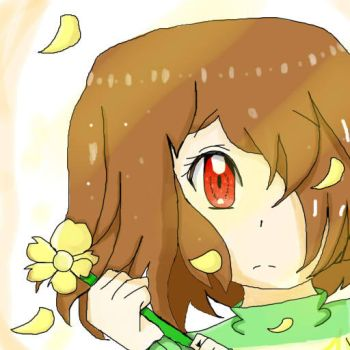 Chara :: Undertale (First Drawing on SAI) by Nekochnyan