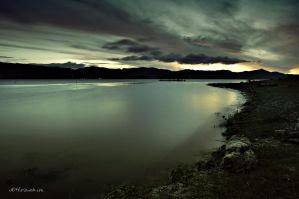 almost sunrise at simanindo Toba by hirza