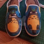 Totoro shoes WIP by zombie-pops