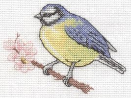 Blue Tit cross stitch by Lil-Samuu