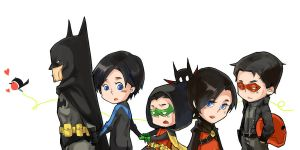 Robins of Batman by vvvviola