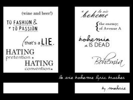 La Vie Boheme lyric brushes by mah-rie