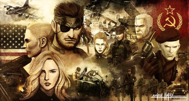 METAL GEAR SOLID 3 SNAKE EATER POSTER by amirulhafiz