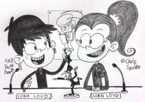 Luna and Luan's Cultwo show! by komi114