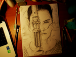 Rey - Star Wars: Episode VII - The Force Awakens by ScarlettCindy
