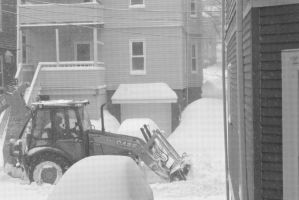 2015 February Snow Storm, BullDozing the Snow by Miss-Tbones