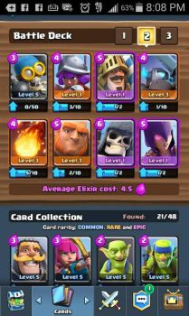 clash royale:my card deck top half by pikamaster123