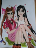 Aerith and Tifa best friends by Laineyfantasy