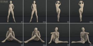 Freebie: ED's Bends (Poses for G2F/V6) by Edheldil3D