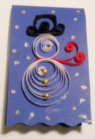 Quilled snowman card by YoyoTheMadScientist