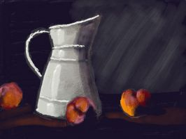 Art Academy: Pitcher and Peaches by jennytablina