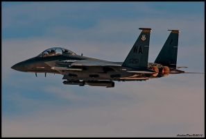 F-15 Strike Eagle Takeoff Burners by AirshowDave