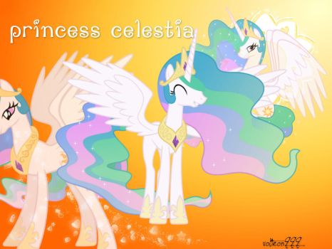 Princess Celestia Wallpaper by volteon999