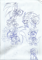 Sonic Boom sketches by SweetSilvy