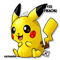 #25 Pikachu by cartoonist