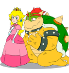 .:Bowser and Peach:. by JACKSPICERCHASE