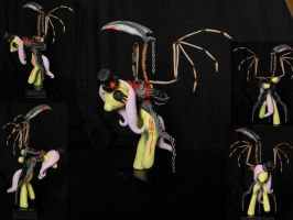 Gothic Fluttershy sculpture by RetardedDogProductns