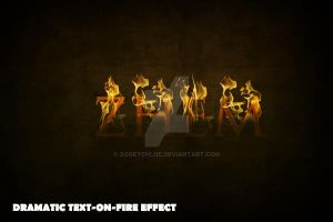 Dramatic Text on fire by ZooeyChloe