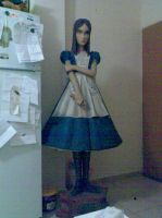 American McGee's Alice statue by Croup-and-Vandemar