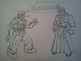 Terry Bogard vs Geese Howard by thechainzter