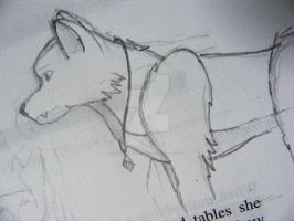 Wolf Sketch 93487 by XSilverwolf1313X