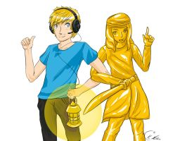 Stephano and Pewdie by Kristl-Air