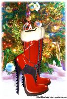 Santa's New Boots by HighHeelsArt