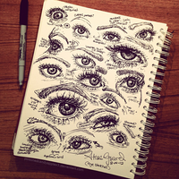 Eye Sketches 3 by OdieFarber