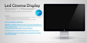 Led Cinema Display .psd by Nemed
