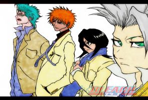 The Bleach Crew (colored) by Randazzle100