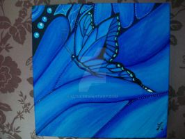 Beautiful Blue Butterfly by 4lisx