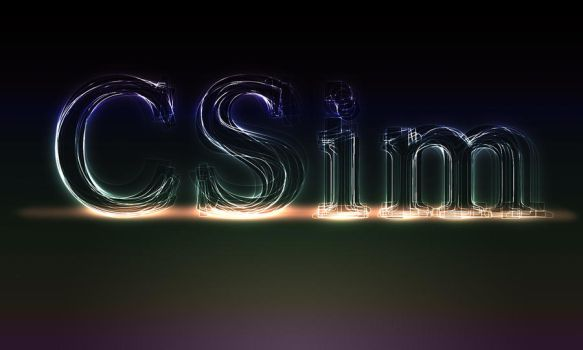 Layered Glowing Text by CSim
