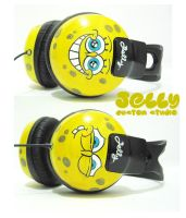 Another Spongebob headphone by PoppinCustomArt