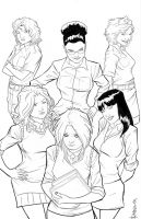 Ladies of Morning Glories by Supajoe