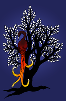 Firebird in the Silver Tree by Cao
