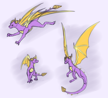 Spyro Sketches by IcelectricSpyro