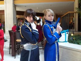 General Roy Mustang and Riza Hawkeye by Bubbly-Bunny