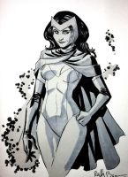 Scarlet Witch Con Sketch by ReillyBrown