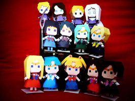 Sailor Moon Papercrafts by Dragazhar